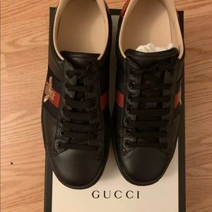 Gucci Ace embroidered sneakers Black Unisex